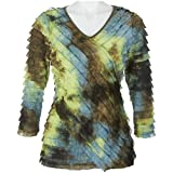 Petite Notations Petite Tie Dye Eyelash Top