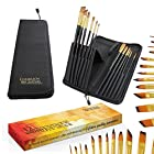 Artist Paint Brush Set (12-Piece) FREE e-Book Included How To Unleash Your Inner Artist ● Every Brush Type You'll Ever Need! ● ***Lifetime Quality Guarantee*** ● Zipper Storage Case / Display Stand / Cover / Holder ● Acrylic, Oil & Watercolor Paintbrush Kit 12-Piece. ● Wood Handle, Synthetic Brushes. ● Art Kits for Kids, Beginner, Student and Professional Artist by Chameleon Art Supplies the Leading Brand of Art and Craft Supplies.