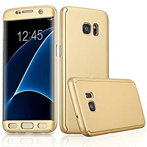 K/B Combo Pack 360 Degree All-round Front And Back Gold Cover With Tempered Glass Screen Protector For Samsung Galaxy J2 (6) 2016 Golden WITH FREE OTG ADAPTER FREE (COMBO OFFERS)