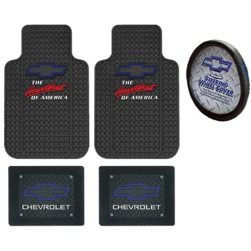 Amazon.com: Chevrolet Chevy the Heart Beat of America Blue Bowtie 5pc