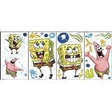 Nickelodeon SpongeBob SquarePants Self Stick Room Appliqué over Twenty Decals