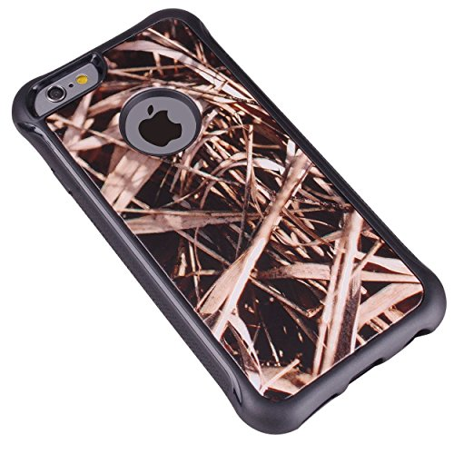 iPhone 6 Case - True Color Grass Hunter Real HD Tree Camo Emboss Printed Impact Resistant TPU Protective Anti-slip Grip Snap-On Soft Rugged Cover for iPhone 6 47 True Impact Series FREE Stylus and Screen Protector