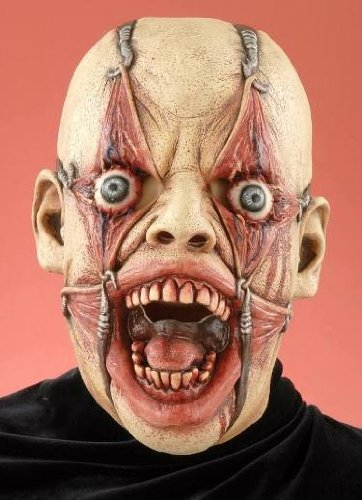 Scary Tortured Ugly Man Adult Halloween Costume Mask Adult