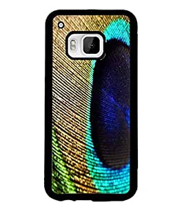 PrintDhaba Peacock Feather D-2216 Back Case Cover for HTC ONE M9S (Multi-Coloured)