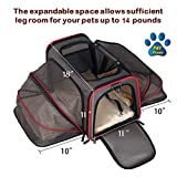 Expandable Pet Carrier- Airline Approved- Designed for Cats, Dogs, Kittens, Puppies - Extra Spacious With 2 Side Expansion!, Comfortable, Soft Sided Travel Carrier - 100% Satisfaction Guaranteed!