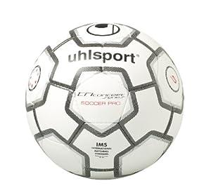 Uhlsport - TCPS Soccer Pro, Pallone da calcio, Bianco/Nero/Argento, 5