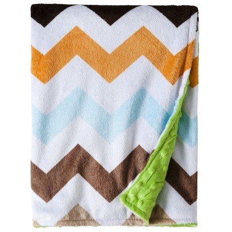 Circo Soft Valboa Popcorn Blanket - Chevron