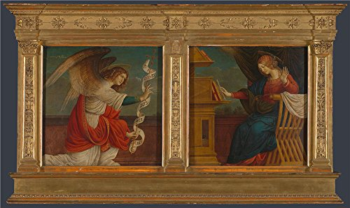 Oil Painting 'Gaudenzio Ferrari - Panels From An Altarpiece - The Annunciation,before 1511' 30 x 50 inch / 76 x 128 cm , on High Definition HD canvas prints, Bath Room, Game Room And Laundry R decor (Bright Copper Kettles Candle compare prices)