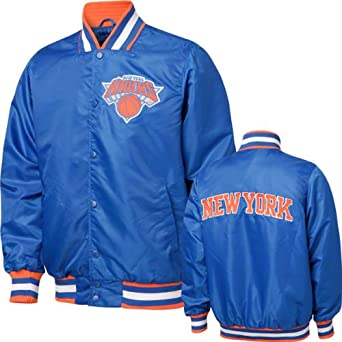 New York Knicks Blue Satin Starter Style Jacket by G-III Sports