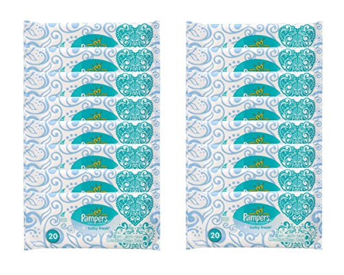 Pampers Baby Fresh Wipes Travel Pack, 20 Wipes (Pack of 16 - One Case) - 1