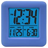 Equity by La Crosse 70905 Soft Blue Cube LCD Alarm Clock