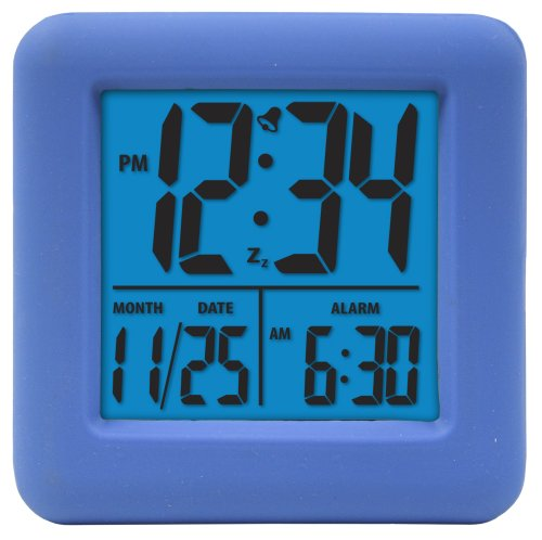 Equity-by-La-Crosse-70905-Soft-Blue-Cube-LCD-Alarm-Clock
