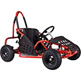 Go-Bowen XW-GGK1-R Gas Kids Go-Kart, Red (Color: red)