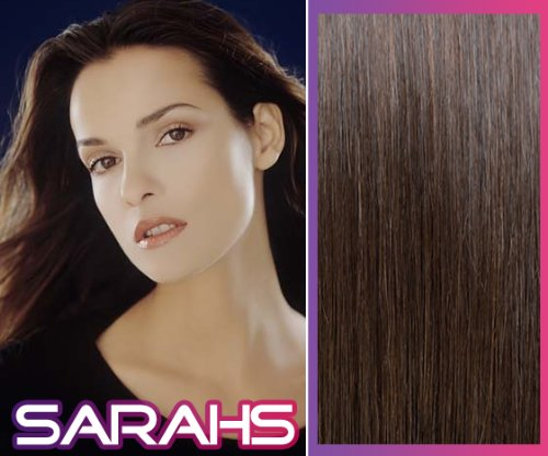 20 Inch Dark Brown (2). Full Head. Clip In Human Hair Extensions. High Quality Remy Hair!. 120G Weight