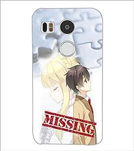PrintDhaba Missing Girl D-3984 Back Case Cover for LG NEXUS 5X (Multi-Coloured)
