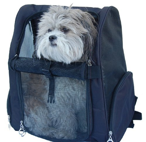 Pet Roller Carrier and Backpack for Dogs and Cats up to 20 Lbs. [14 In. X 10 In. X 19 In.]  цены