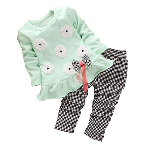 [BomDeals Adorable Cute Toddler Baby Girl Clothing 2pcs Top&pants Winter Outfits (Age(3T),] (Baby Designer Clothes)