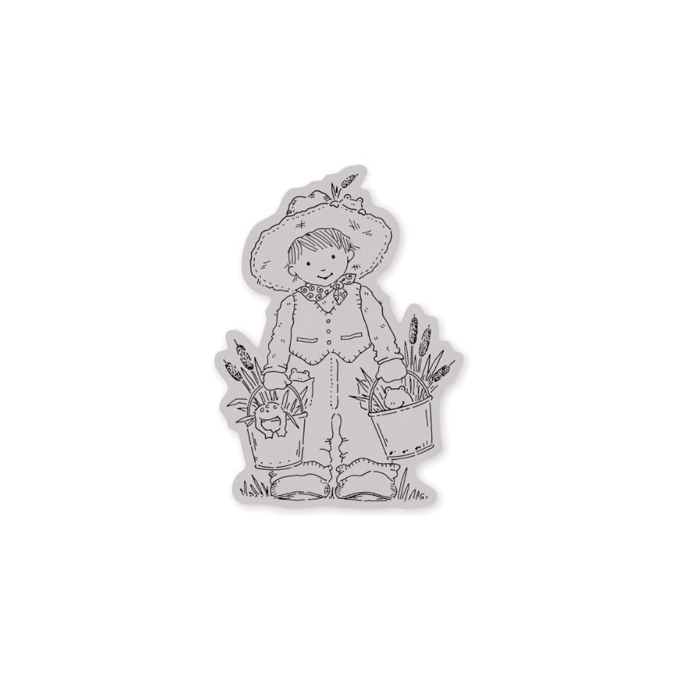 Penny Black Cling Rubber Stamp 4X5 Hoppy Day