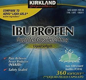 Kirkland Signature Ibuprofen Liquid Softgels 200mg, 360 Capsules