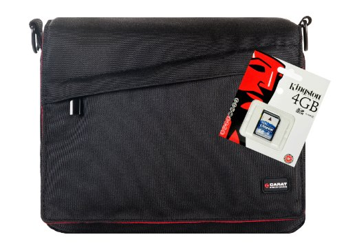Universal Foto-Tasche Kameratasche für die kompakte SLR Kamera mit Zoomobjektiv Blitzgerät etc. im Set mit 4 GB SD Karte für Canon EOS 600D 70D 100D 1100D 1200D Nikon D7100 D7000 D5300 D5200 D5100 D3300 D3200 D3100 D610 D600 Sony Alpha 7 3000 A58 A57 A37 5000 6000 und viele andere (siehe Beschreibung)