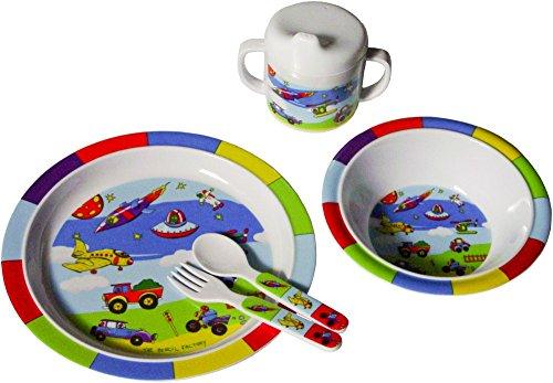 Bieco-04000142-Kinder-Ess-Set-bunte-Fahrzeuge-5-teilig