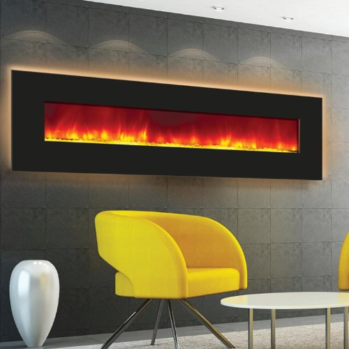 Amantii Wall Mount/Built-in 72-inch Electric Fireplace - Black Glass - Wm-bi-72 photo B00F6SG19U.jpg