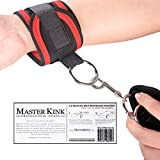 Bed Restraints Kit - No Posts Needed - Bondage Tie-Down Kit - Professional Grade (Black)