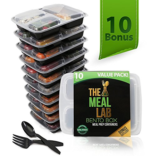 Premium 3 Compartment Meal Prep Containers