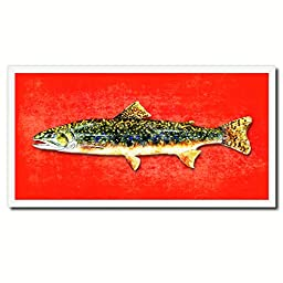 Brook Trout Fish Art 14046 Custom Picture Frame Wall Home Decor Nautical Beach Fisherman Shabby Chic Gift Ideas - Red 20\