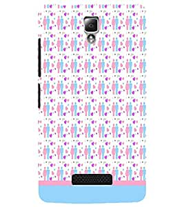 PrintDhaba Love Couple Pattern D-1597 Back Case Cover for LENOVO A2010 (Multi-Coloured)