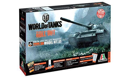 Italieri - Modellino Carro armato World Of Tanks Chinese Tank Type 59