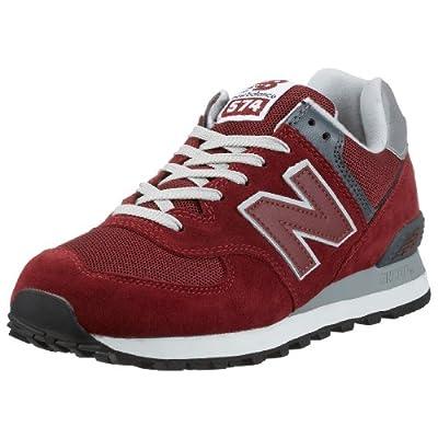 New Balance Men's ML574 Lifestyle Sneaker,Burgundy,10 D US