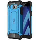 Cubix Defender Dual Layer Shockproof Bumper Back Case Cover For Samsung Galaxy A7 2017 (Blue)