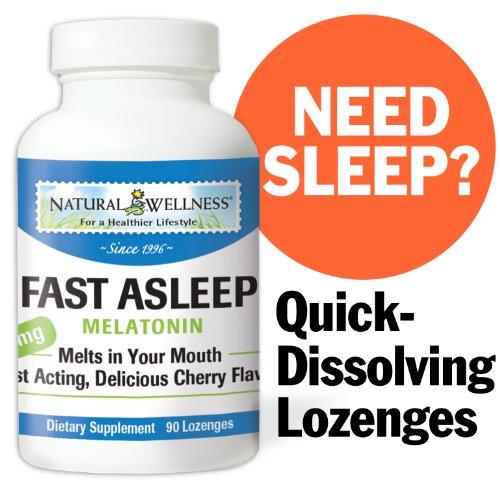 Natural Wellness Fast Asleep - Melatonin - 90 Cherry Lozenges