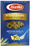 Barilla Whole Grain Medium Shells Pasta, 13.25 Ounce Boxes (Pack of 12)