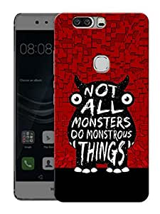 "Cute MonsterPrinted Designer Mobile Back Cover For ""Huawei Honor V8"" (3D, Matte, Premium Quality Snap On Case)"