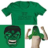 Ask me about my Hulk Mens Funny Flip Tee T-Shirt All Sizes Free UK Postage