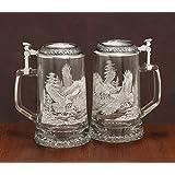 James Meger German Glass Bald Eagle Beer Stein