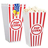 Party Supplies - Individual Reusable Plastic Popcorn Buckets , 2-ct. Packs