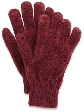 Scala Women's Stretch Chenille Glove, Burgundy, One Size