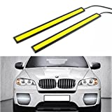 RioRand® 2 pcs Set Waterproof Aluminum High Power 6W 6000K Xenon Slim COB LED DRL Daylight Driving Daytime Running Light Lamp For Car SUV Sedan Coupe