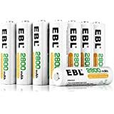 EBL NiMH 2800mAh Super Capacity AA Rechargeable Batteries, 16 Count