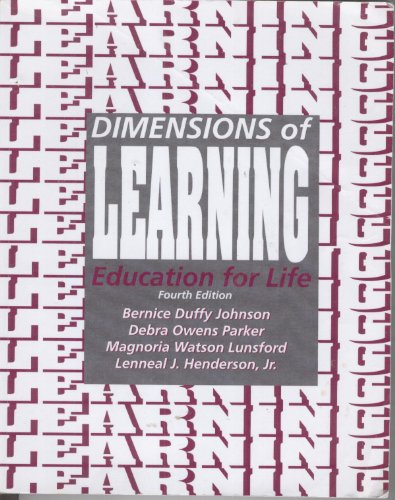 Dimensions of Learning Education for Life Fourth Edition