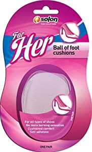 Solon Foot Solutions Ball Of Foot Cushions, 1-Pair (Pack of 3)