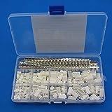 Raogoodcx® 600Pcs 2.54mm JST-XHP 2 / 3 / 4 / 5 Pin housing and Male / Female Pin Head Connector Adapter Plug Set