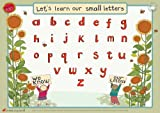 Educational Learning Mats : Learn to write your lower case letters for left-handers - Write-on, wipe-clean learning mats.