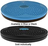 """Isokinetics Inc. Brand Twist Board - For Fitness and Exercise - Choice of Blue or Black - 10"""""""