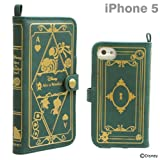 Disney Characters Old book iPhone 5/5S/5C Case (Alice in Wonderland /Green)