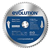 Evolution Power Tools Mild Steel Carbide-Tipped Blade, 255 mm (Tamaño: 255 mm)