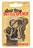 SUCK UK Nickel Plated Iron Split Ring Bottle Opener and Key Ring, Silver